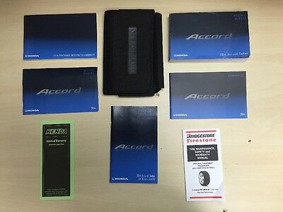 Honda Accord Sedan 2014 Owners Manual Books / In Case / Free Shipping
