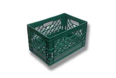 Green Rectangular Milk Crate Rigid Plastic