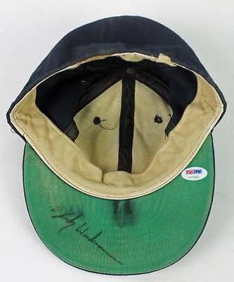 Yankees Rickey Henderson Authentic Signed 1985-87 Game Used Hat PSA/DNA #U77392