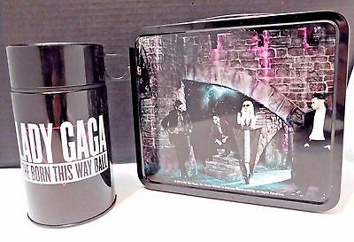 "Lady Gaga ""admat"" Tin Lunch Box & Thermos Born This Way 2013 Cancelled Tour New"