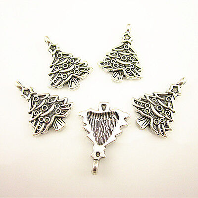 Wholesale Ancient Silver The Christmas Tree Accessories Charm Pendants