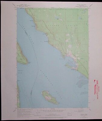 Tulalip Washington Tulalip Indian Reservation vintage 1969 old USGS Topo chart