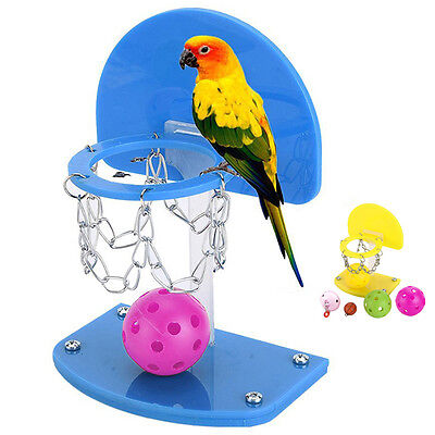 Parrot Pet Chew Swing Basketball Bell Ball Hanging Toy Parakeet Budgie Chew Toy