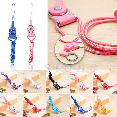 Neck Strap Ring Lanyard Detachable For iPhone/Samsung Cell Phone ID Card PSP MP3