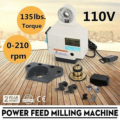 X Axis Power Feed Milling Noiseless Table Milling Machine Knee Mills Fits Hot