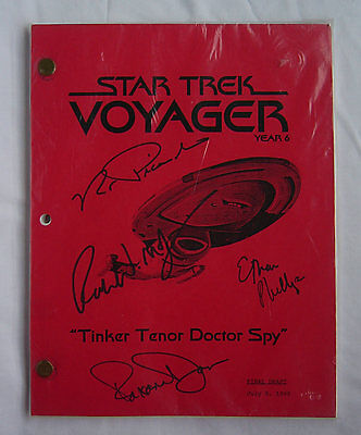 "STAR TREK VOYAGER ""Tinker Tenor Doctor Spy"" SIGNED SCRIPT"