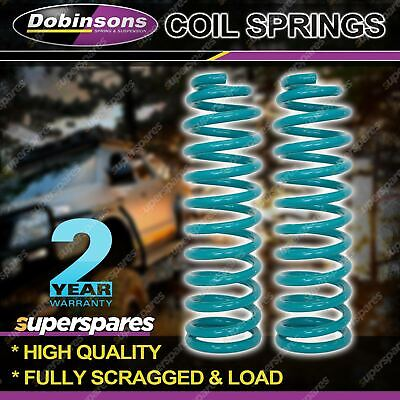 Pair Rear DOBINSONS HD Coil Springs For Toyota Landcruiser 80 105 Series 4' Lift