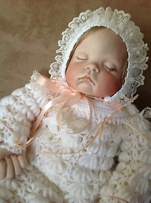 Sugar Britches Vintage 1986 Reproduction Porcelain Baby Girl Doll 18""