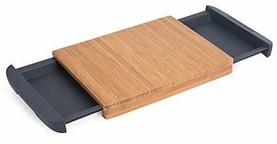 Internets Best Bamboo Cutting Board with Removable Drawer | Prep Storage | Wood