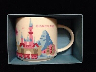 Starbucks Disneyland Mug Disney Parks Castle Space Mountain You are Here UK Post