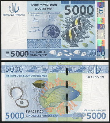 French Polynesia. 5000 francs (Unc) 2014. Banknote Cat# P.NL