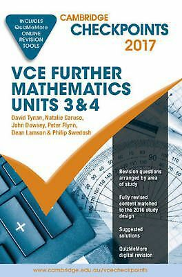 Cambridge Checkpoints VCE Further Mathematics 2017 and Quiz Me More by David Tyn