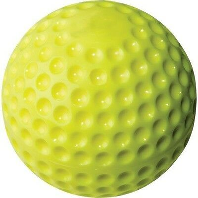 """Rawlings PMY9 9"""" Yellow dimple pitching machine ball, Pack Of 12"""