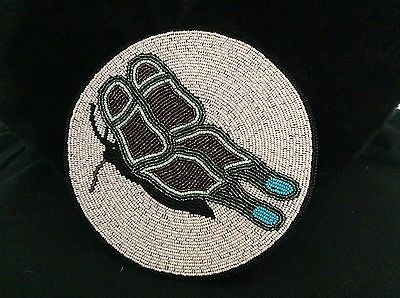 Native Beaded Butterfly Medallion