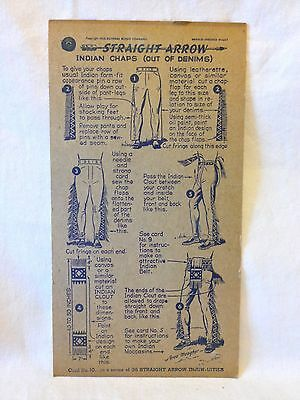 Straight Arrow Indian Chaps card #10 vintage 1950 Nabisco Shredded Wheat
