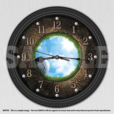 Golf - Man Cave Decor - Personalized Decorative Wall Clock - Men's Gift