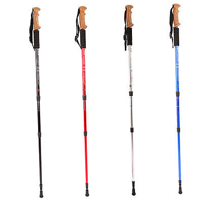 Outdoor Travel Straight Shank Aluminum Alloy Hiking Stick Walking Rod F&