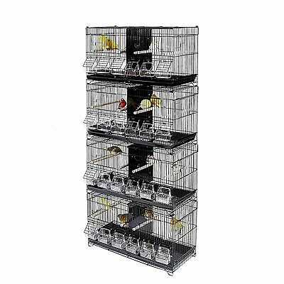 Kookaburra Cages Pear - 4 Double Wire Breeding Cages for Finch, Canary etc