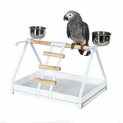 Kookaburra Cages Parrot Playstand with Feeders
