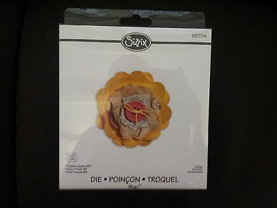 SIZZIX BIGZ Large Die Cutter FLOWER LAYERS #9 fits Cuttlebug & Wizard 657114
