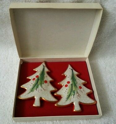 Vintage Veneto Flair 1975 Christmas Ornaments With Original Box Set Of 2