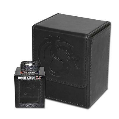 BCW Deck Case LX Black Leatherette MTG Box w/ Magnetic Closure - Holds 80 Cards
