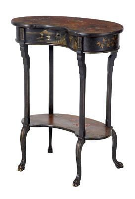 Early 20Th Century Japanese Ebonized Decorated Work Table
