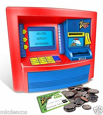 Deluxe ATM Savings Bank- Zillionz Jr, Play ATM For Kids Teaches Them How To Save