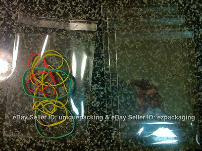 100 PCS 4x6 Inches Clear Resealable Cello Cellophane Bags