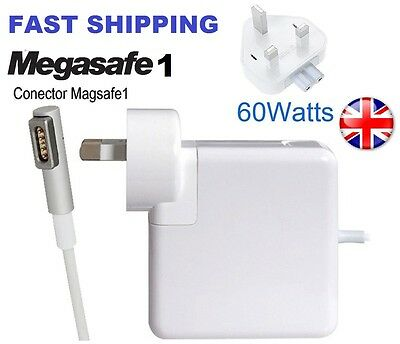 Apple 60w MacBook Pro Magsafe1 Charger Power Adapter L-Shape UK