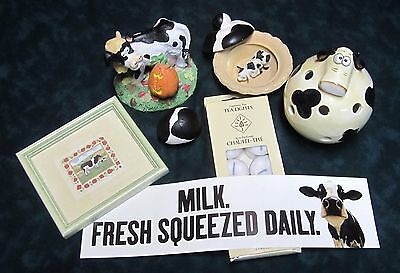 Holstein Cow Collection including Sharon Jervis Framed Print, Figurines, & More