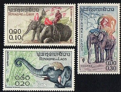 Laos. 1958 Laotian Elephants. MH