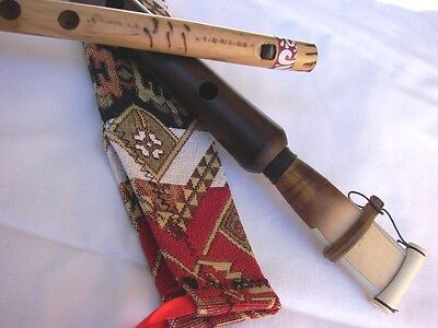 Handmade Pro Armenian Duduk and Flute, Apricot Wood, Ornament case and Gift