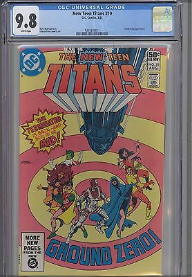 New Teen Titans #10  CGC 9.8  1981 DC: 3rd Deathstroke appearance: New Frame
