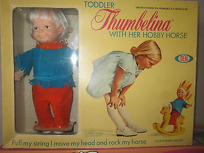 mib 1970  toddler thumbelina with her hobby horse