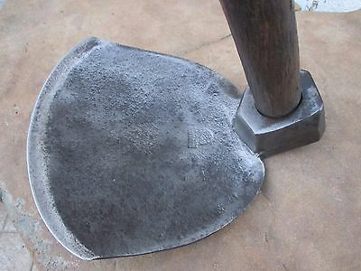 Antique Giant Axe Adze Old Coopers Burys & Co Sheffield Adz Wood Hoe Concave