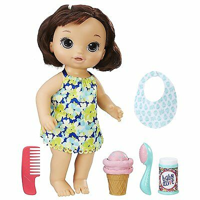 Baby Alive Magical Scoops Baby (Brunette) - New in Box - Ships in 24 Hrs