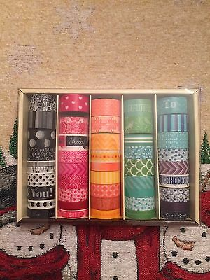 New Recollections Box of 45 rolls Multi color assortment lot PLANNER WASHI TAPE