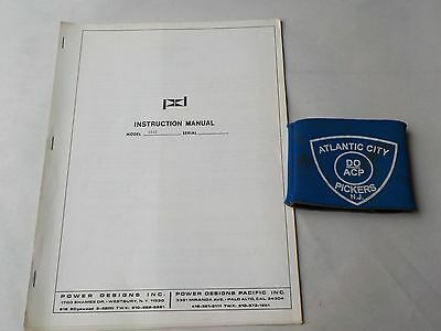 Power Designs 5015 Transistorized Power Supply Operating Instructions
