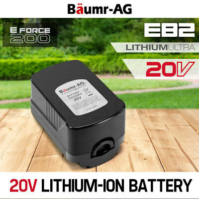 NEW BAUMR-AG 20V Lithium-Ion Battery Spare Replacement E-Force 200 Li-Ion Series
