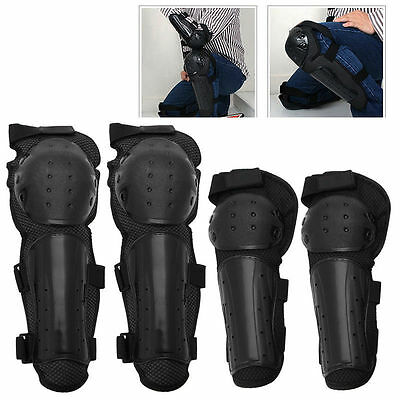 New 4pcs Elbow Pads Knee Guard Brace Armor Protector Support Gear For Motorcycle
