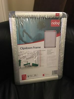 Acco 1902214 - Nobo Clipdown Frame Front Opening A4 Aluminium 1902214