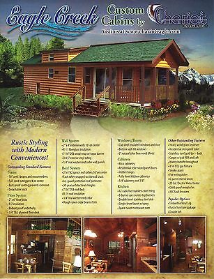 2017 EAGLE CREEK  RUSTIC CABIN PARK MODEL MOBILE TINY HOME for RV PARKS- FLORIDA