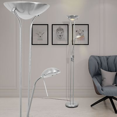 LED 23W Stehlampe Deckenfluter Lese Stand Lampe Standleuchte dimmbar Büro 180cm