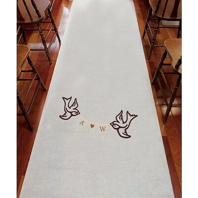 Expressions Personalized Aisle Runner Wedding Ceremony Decoration Colors Monogra