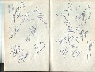 (2) 1989 Washington Bullets Autographed Page by 15 w/ Bernard King & Mel Turpin