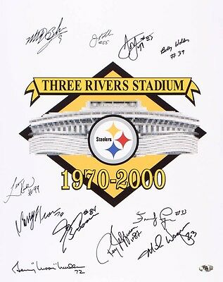 """PITTSBURGH STEELERS - Signed 16"""" x 20"""" colour photo"""