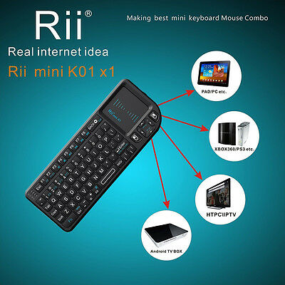 For Android PC TV BOX HOT Mini 2.4G Wireless Keyboard Air mouse Touchpad Control