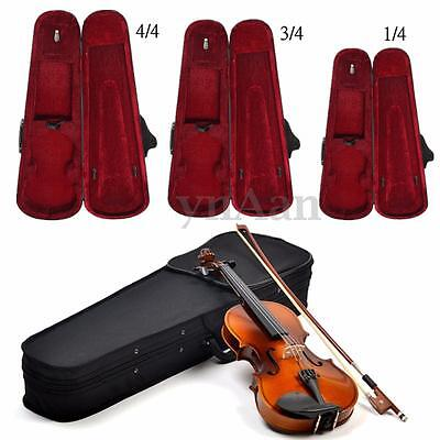 New Portable Oxford Fabric Black Triangle Shape Violin Box Case With Red Lining