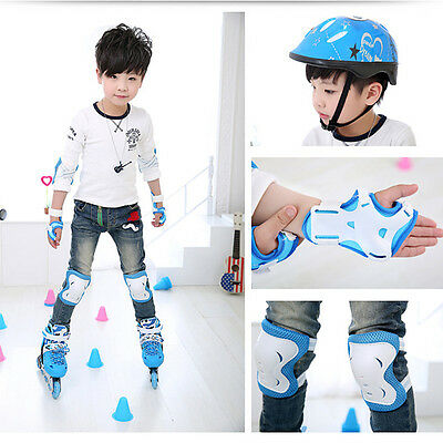 6Pcs Wrist Elbow Knee Pads Sports Gear Skating Protector Guards For Kids Safety
